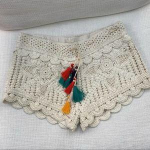Surf Gypsy crochet shorts